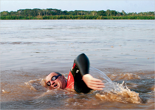 Martin Strel swam the entire length of the Amazon river